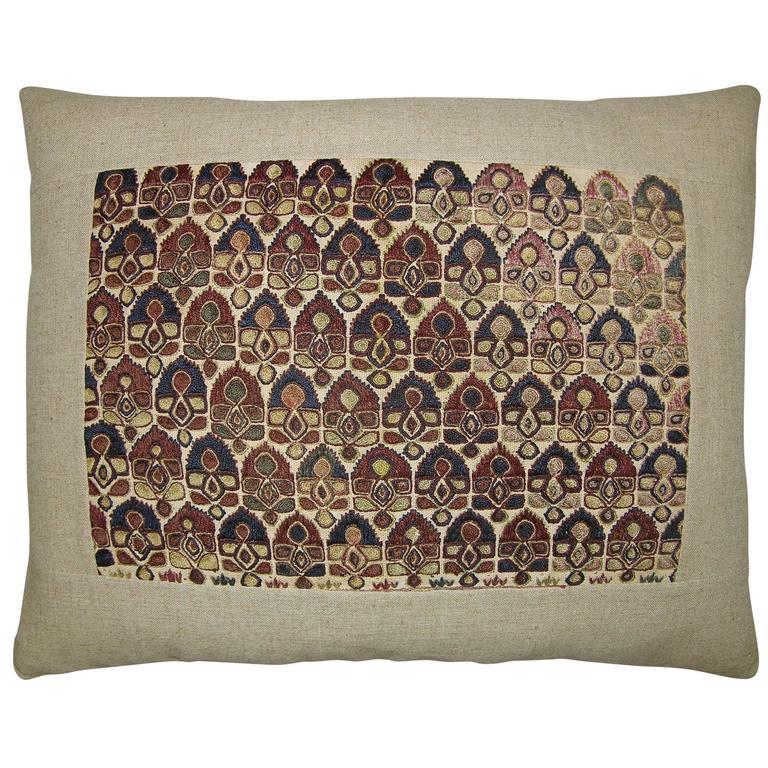 Antique Uzbek Pillow, circa 1820 For Sale