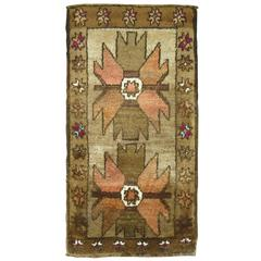 Vintage Turkish Kars Village Throw Rug