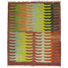 Vintage Turkish Kilim Square
