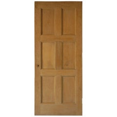 Solid Oak Recessed Panelled Door, circa 1926