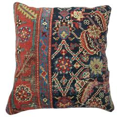 Navy Persian Rug Pillow