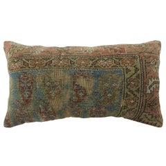 Shabby Chic Blue Persian Bolster Pillow