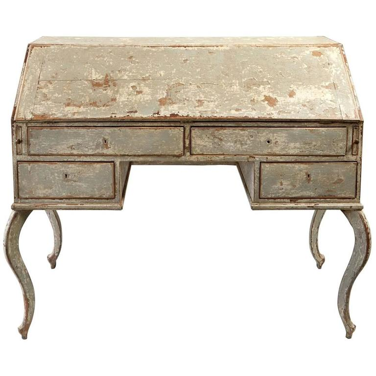 Early 19th Century French Secretary in Original Paint