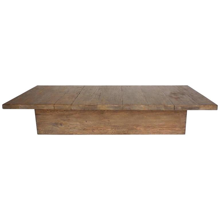 custom reclaimed wood rustic modern coffee table for sale at 1stdibs. Black Bedroom Furniture Sets. Home Design Ideas