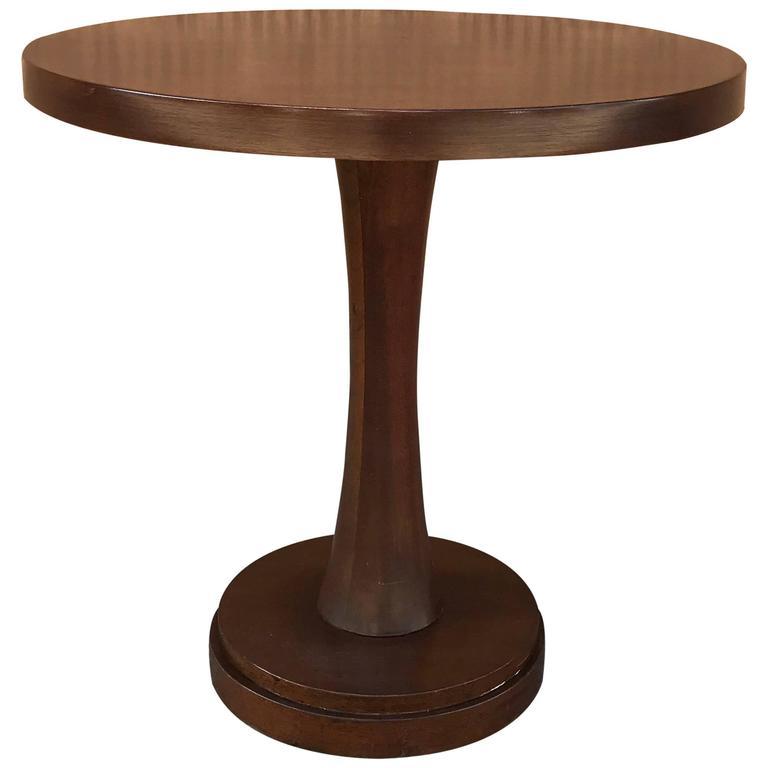 Mid-Century Mahogany Pedestal Centre Table