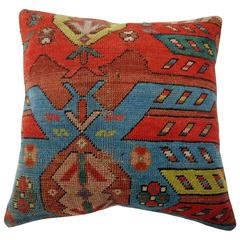 Antique Karabagh Rug Pillow