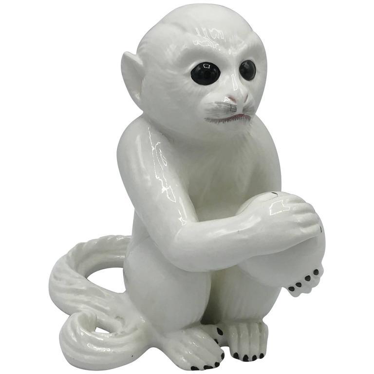 1970s Italian Ceramic Monkey Sculpture