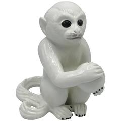 1970s Italian Ceramic Monkey Sculpture