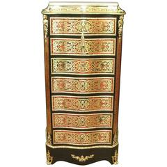 French 19th Century Boulle Wellington Chest Secretaire