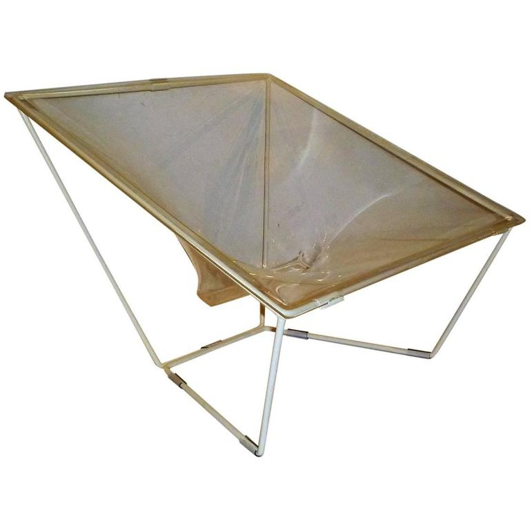 """""""Contour"""" Modern Transparent Acrylic Lounge Chair by David Colwell, 1968 For Sale"""