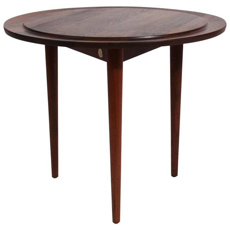 Custom Modernist Round Side Table, 1963 1