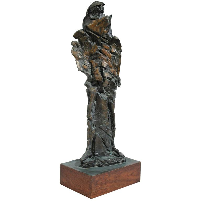 Large Abstract Figural Bronze Sculpture For Sale