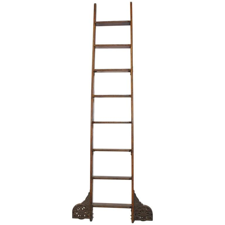 Antique Library Ladder by Coburn Trolley Track Mfg Co For