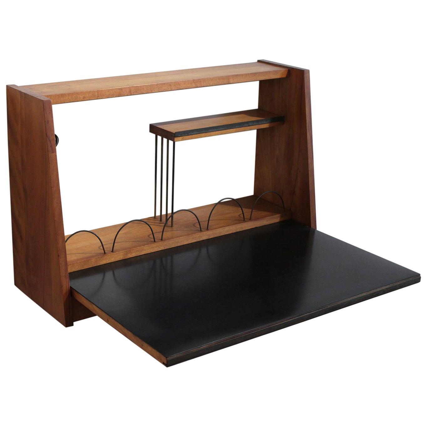 Custom 1950s Wall Mounted Modernist Writing Desk