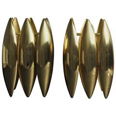 Pair of Brass Kastor Jo Hammerborg Pendants for Fog and Mørup, 1970