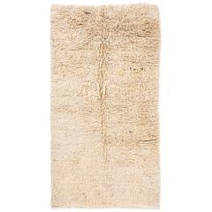 Minimalist Shag Pile Natural Wool Rug