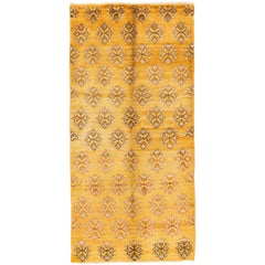 Mid-Century Karapinar Rug in Butterscotch Yellow Color