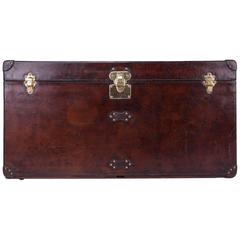 Antique 20th Century Rare Louis Vuitton Cow-Hide Steamer Trunk, circa 1900