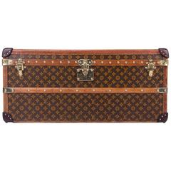 Antique Rare Louis Vuitton Monogram Mid-Size Trunk, circa 1910