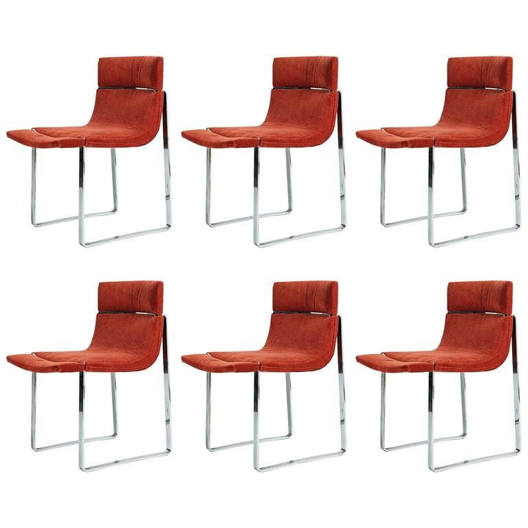 Set of Six 1970s Chairs