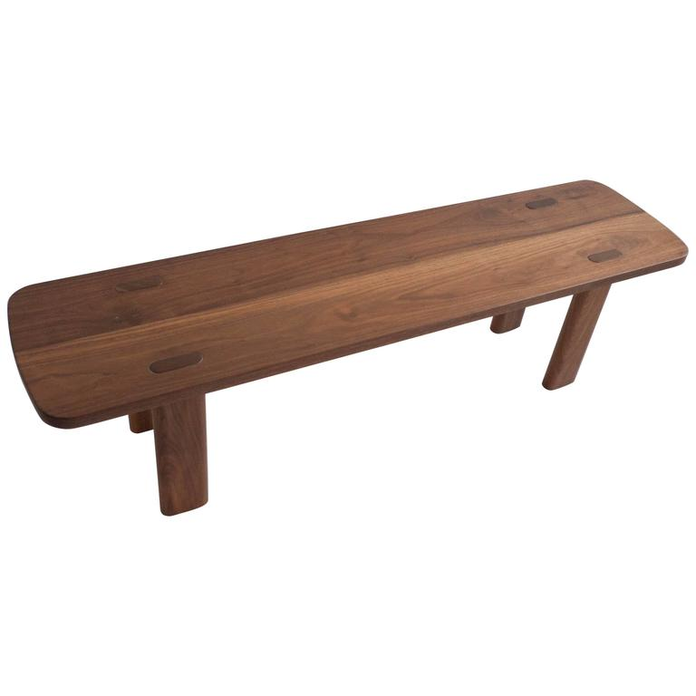 "Laika Bench, Solid Walnut, 60"" For Sale"