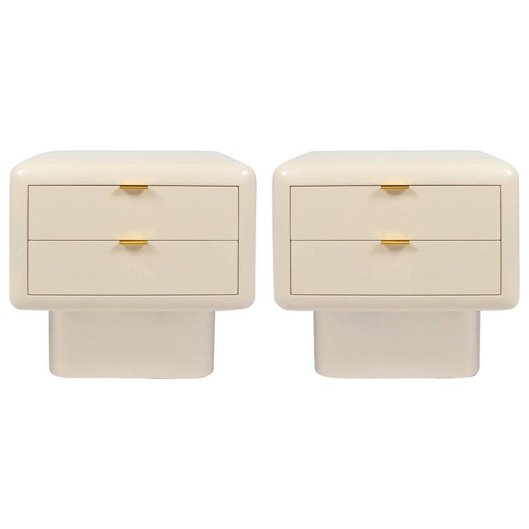 1980s pair of nightstands by american designer and for 1980s furniture design