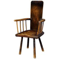 Attractive 18th Century Elm Primitive Chair