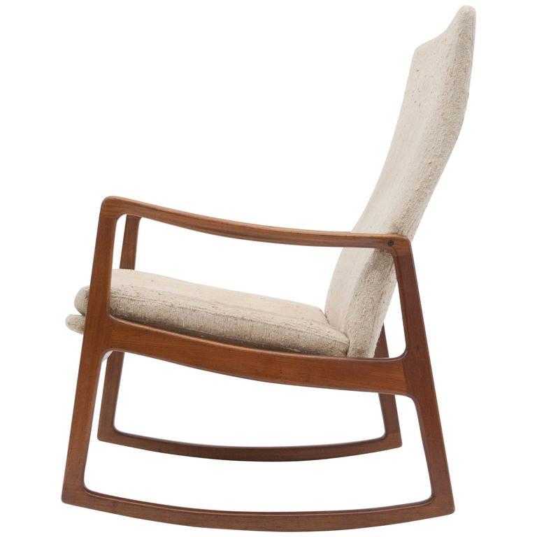 Genial Ole Wanscher For France U0026 Son High Back Rocking Chair For Sale