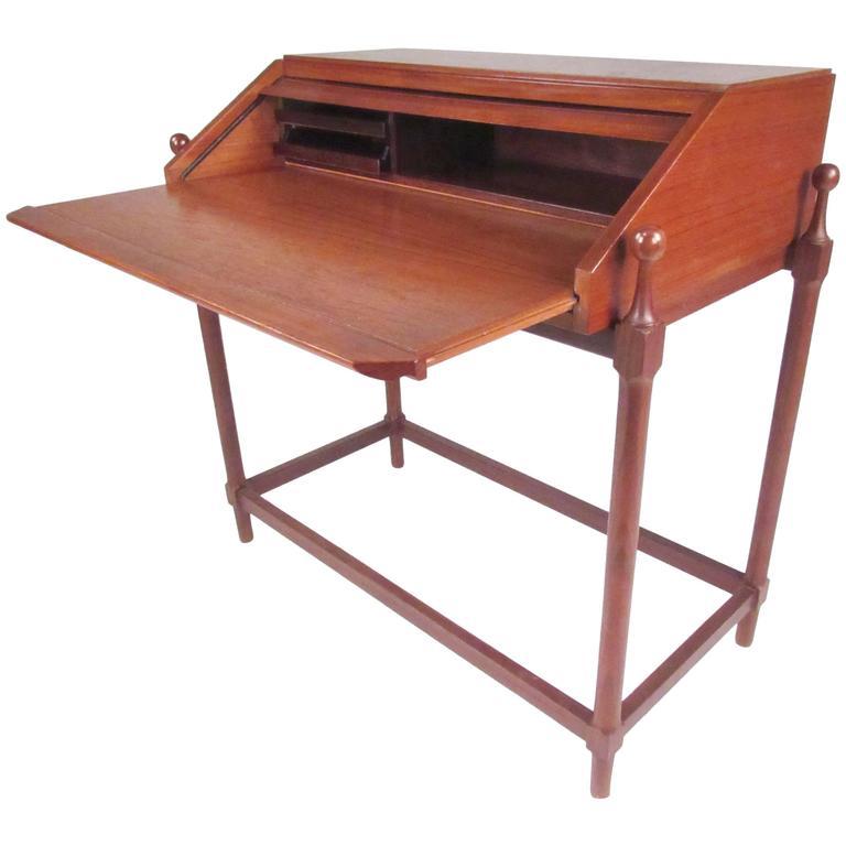 Teak Roll Top Desk by Proserpio Fratelli