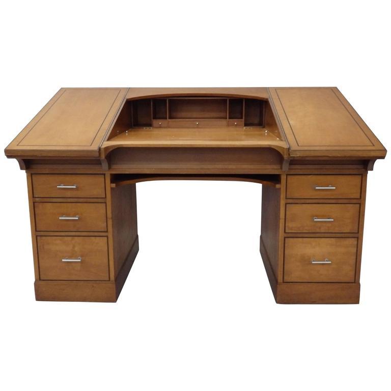 Johann Tapp Custom Built Art Deco Artists Drafting Desk with Hidden Compartments For Sale