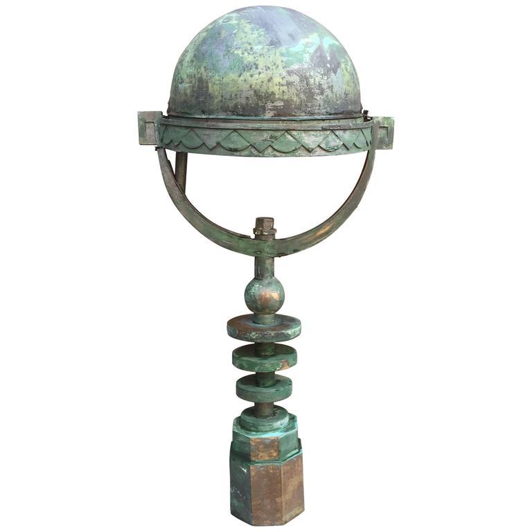 Art deco garden floor lamp in bronze and zinc circa 1930 - Art deco gardinen ...
