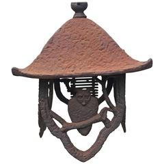 Japanese Antique Owl Lantern Hand Cast