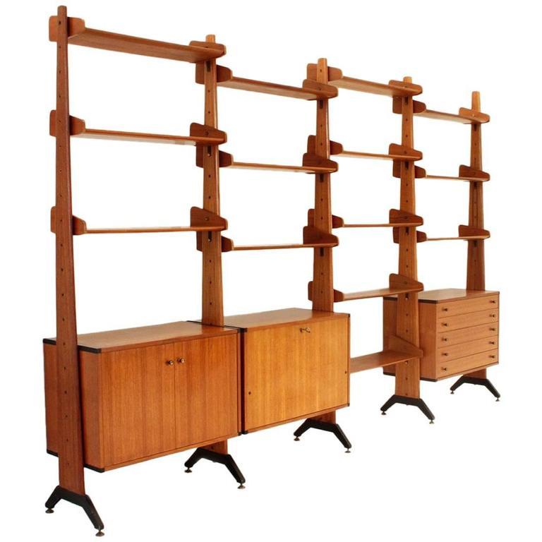 italian midcentury bookcase by av arredamenti 1