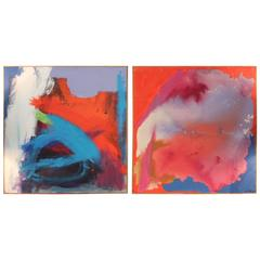 Pair of Paintings by M. Nelson, 1976