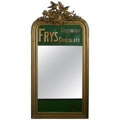 Large Victorian Advertising Mirror, Fry's Chocolate Overmantel