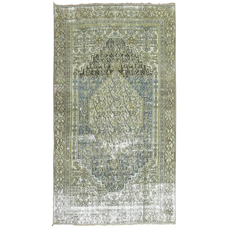 Shabby Chic Persian Bibikabad Rug For Sale