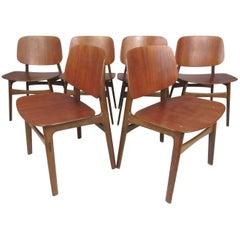 Set of Mid-Century Modern Børge Mogensen Dining Chairs, Model 155