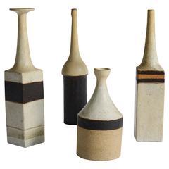 Set of Four Ceramic Vases by Bruno Gambone