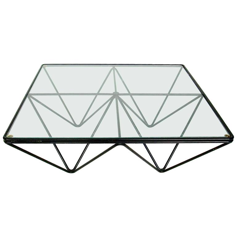 Paolo Piva Alanda Square Black  Coffee Table for B&B Italia