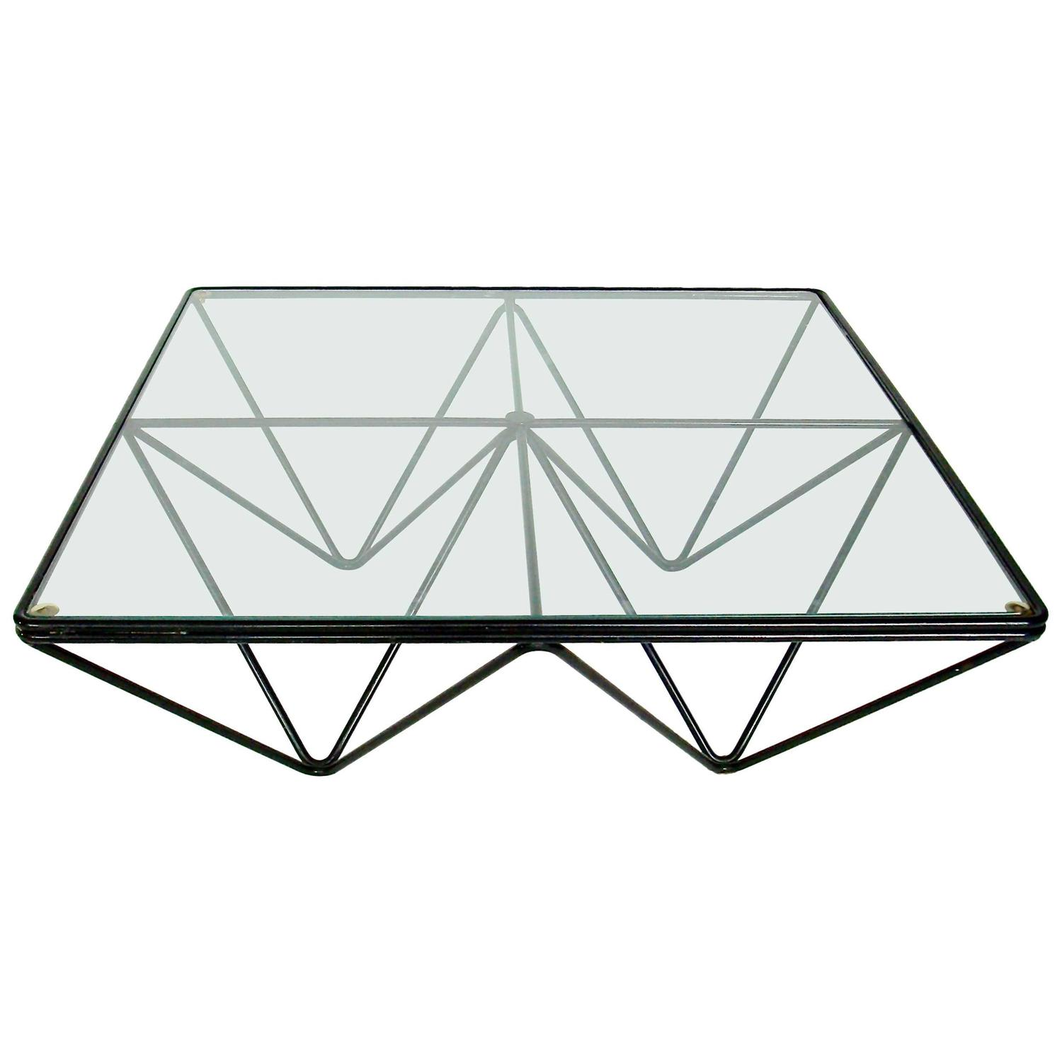 Italian Square Black Alanda Coffee Table by Paolo Piva for B&B