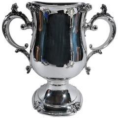 Antique American Two-Handled Sterling Silver Trophy Cup by Meriden Britannia