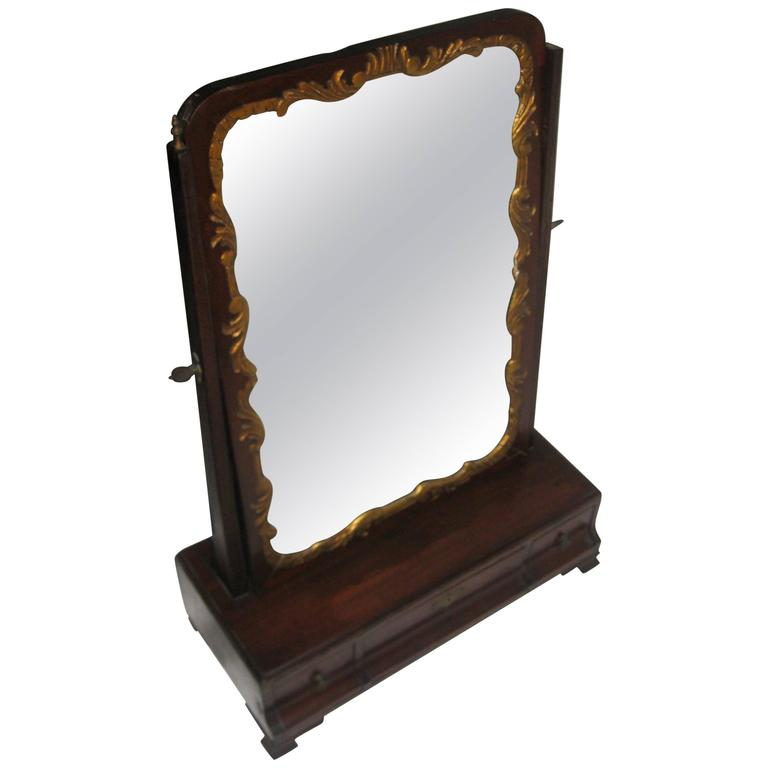 19th Century Georgian Mahogany Dressing Mirror