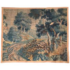 18th Century French Verdure Aubusson Tapestry