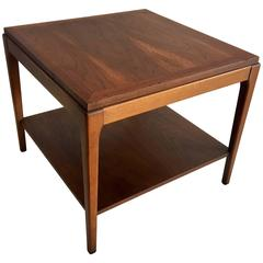 American Mid-Century Modern Walnut Square Cocktail or End Table