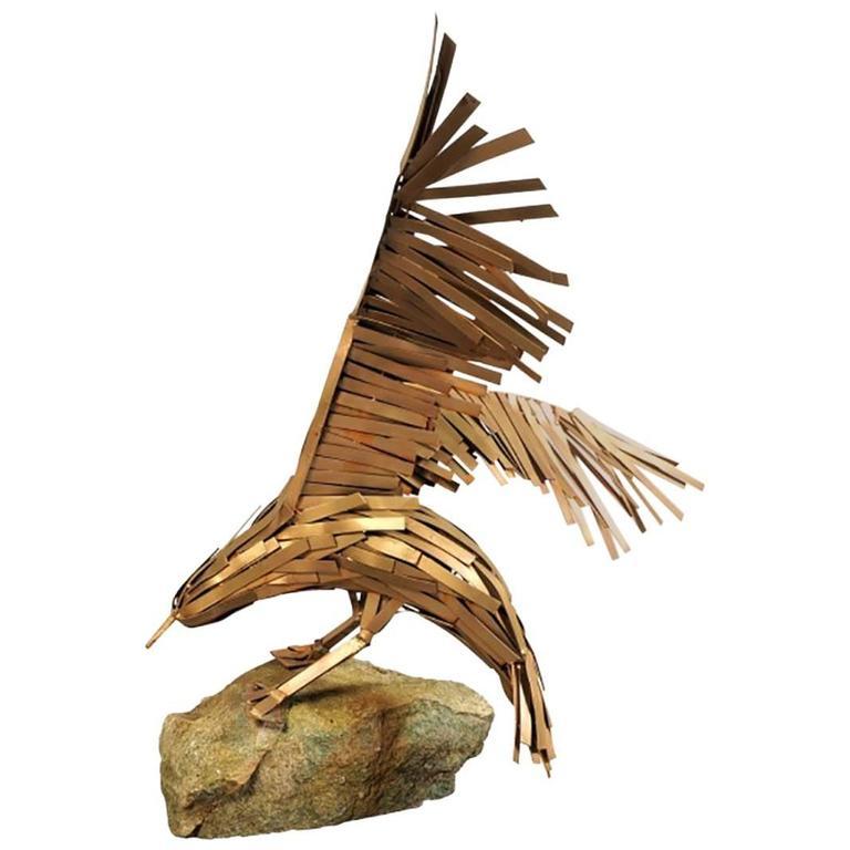 Vintage Brutalist Eagle Sculpture