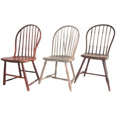 Collection of Three Original Painted Windsor Chairs