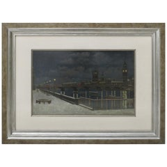 """London Bridge at Night"" Painting"
