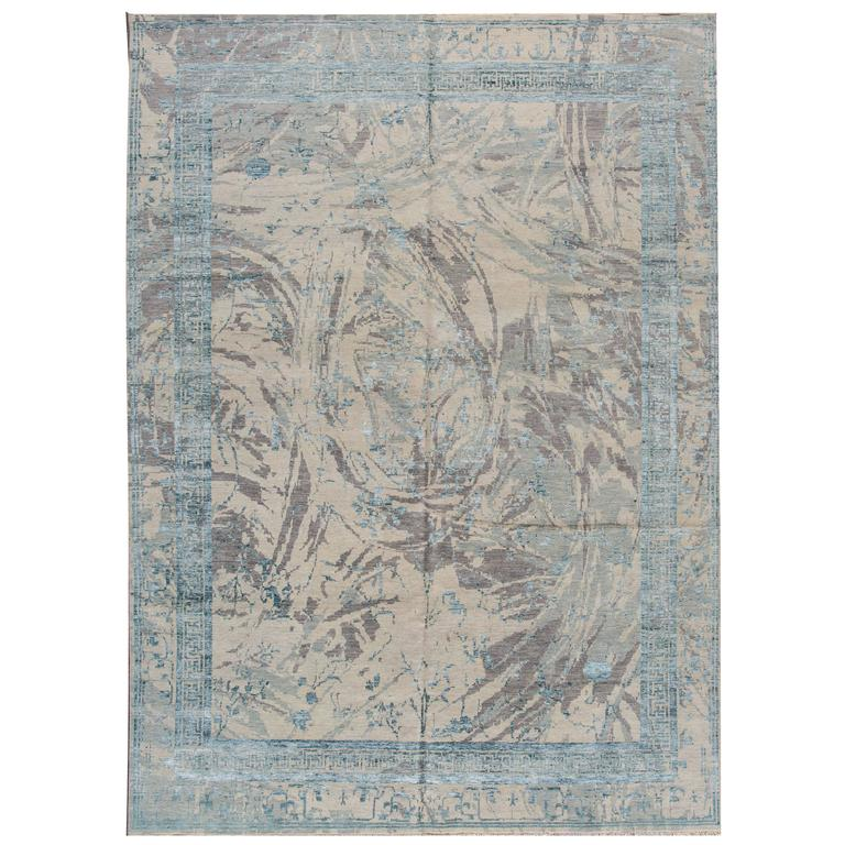 Nice looking modern indian rug for sale at 1stdibs for Nice rugs for sale