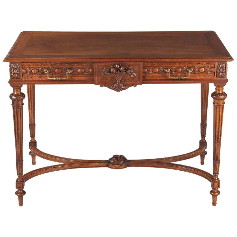 Louis XVI Style Cherrywood Desk, France, Early 1900s