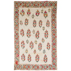 19th Century Uzbek Silk Embroidered Suzani Tapestry